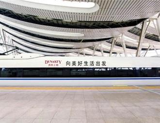王朝酒业冠名高铁专列正式起航