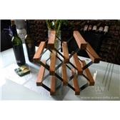 波多新型B網型紅酒架 5瓶/個性小型儲藏葡萄酒架